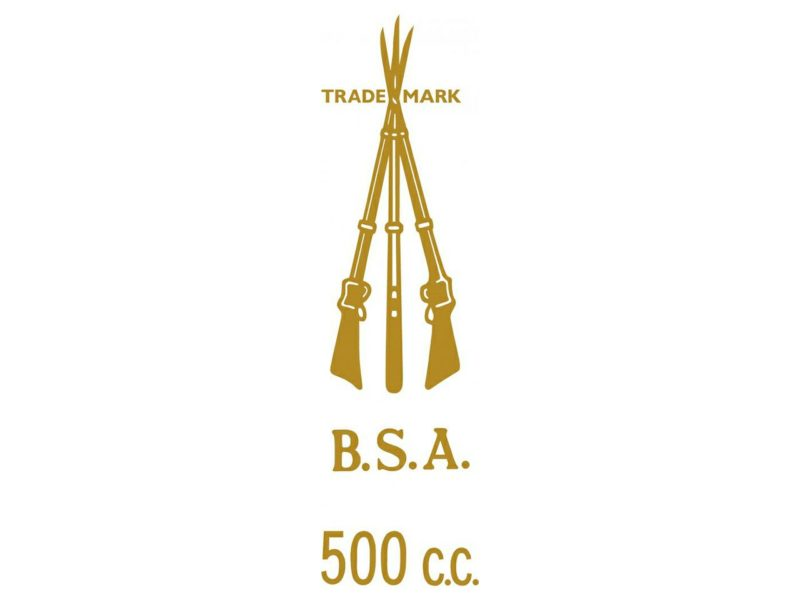 D50142 BSA 500cc piled arms transfer - Classic Bike Spares