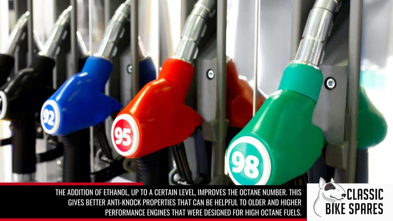 ethanol fuels improve octane number