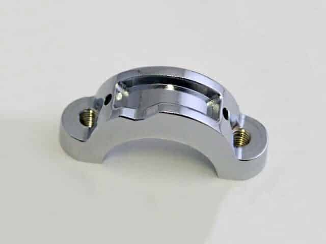 Threaded chrome back clamp for Doherty type 217 lever - Classic Bike Spares