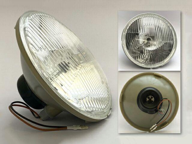 Replica Lucas headlight beam unit for right hand drive - Classic Bike Spares